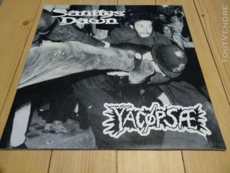 """Yacopsae / sanitys dawn"""" split lp, lobo 014, assück,"""