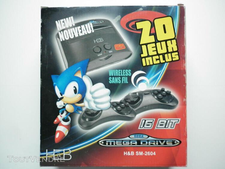 Console sega mega drive inclus 20 jeux intégrés