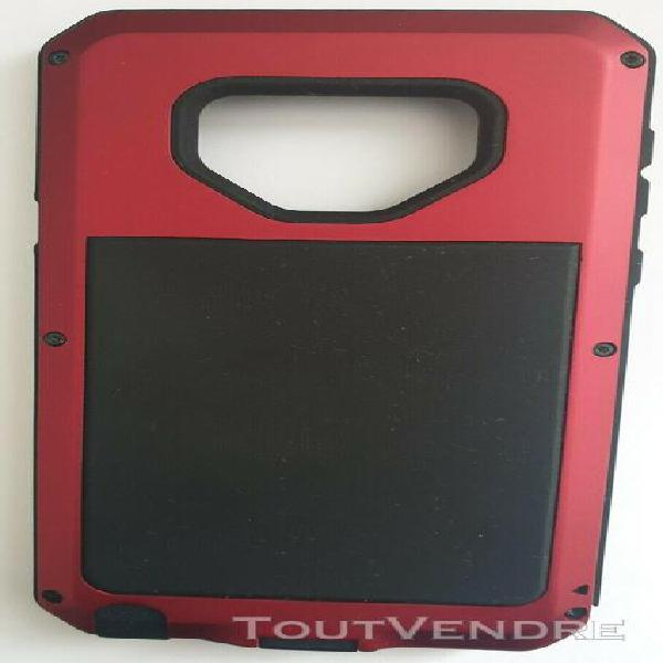 Coque protection telephone noir et rouge - 2 photos