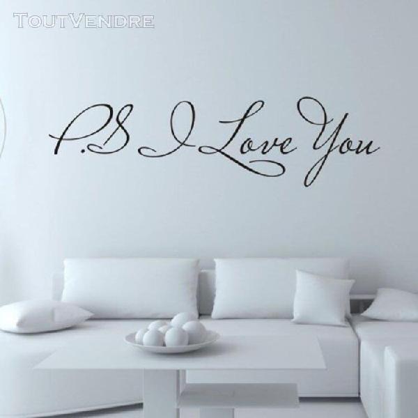 I love you art amovible vinyle mural salle home decor sticke