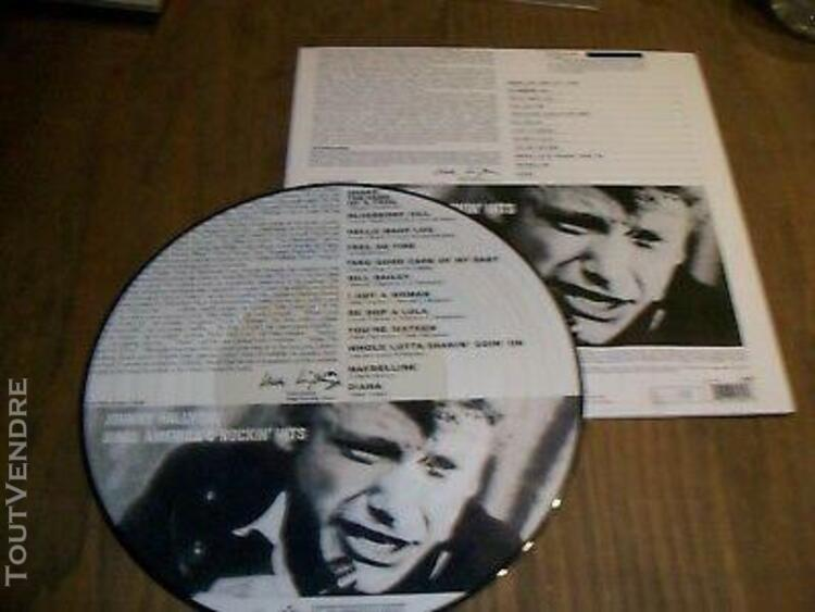 Johnny hallyday rare picture sing america