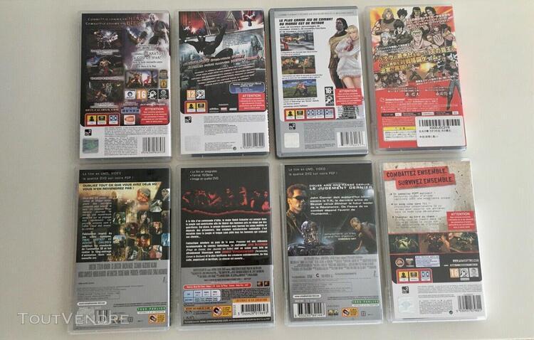 Lot 5 jeux psp et 3 umd vidéo pour psp sony