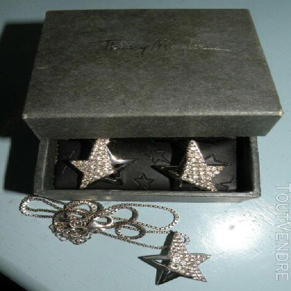 Parure bijoux thierry mugler boucles oreille et collier