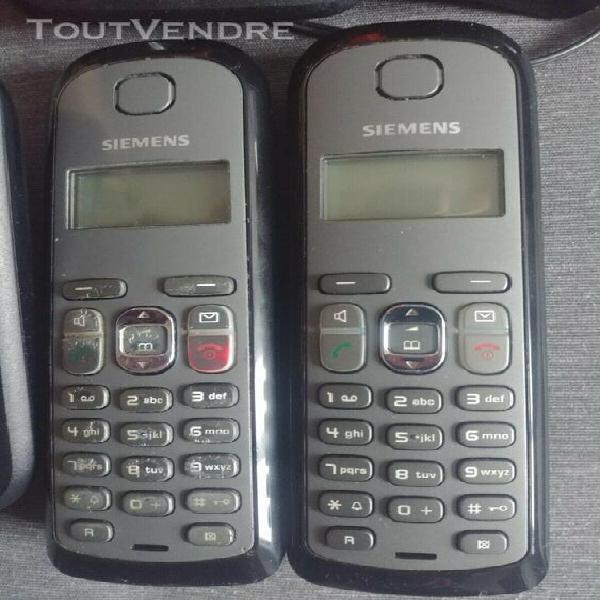 Siemens gigaset as285 | téléphone fixe sans fil avec deux