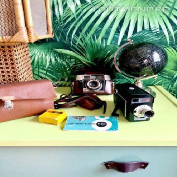Caméra kodak vintage brownie 8 mm avec sacoche made in usa