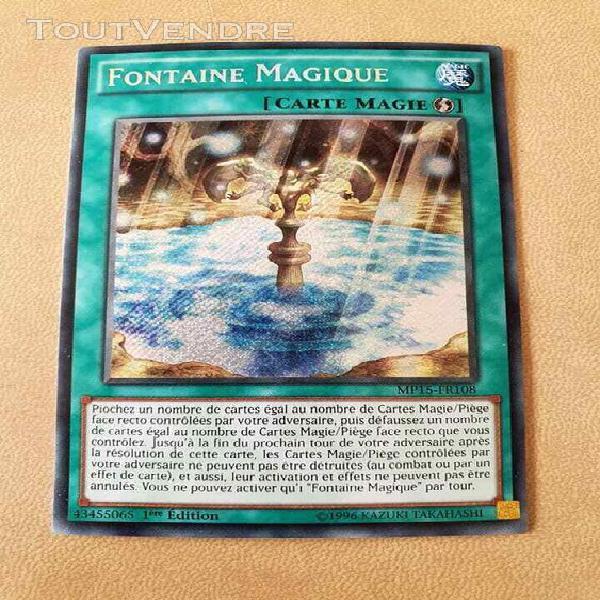 Carte yu gi oh - fontaine magique - mp15-fr108 - secret rare