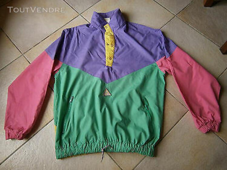Coupe vent violet vert rose jaune taille l