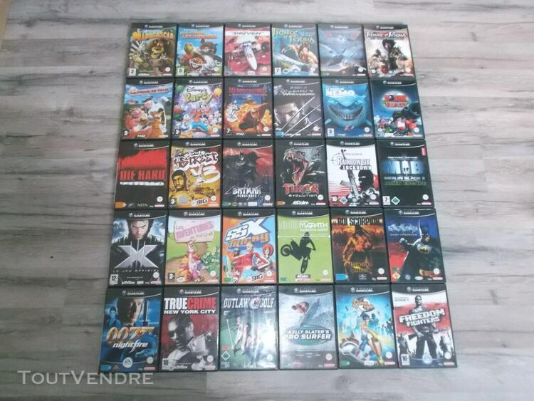 Enorme lot de 83 jeux nintendo game cube pal fr aucun double
