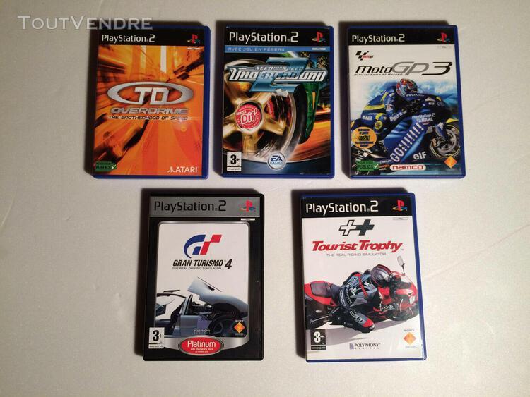 Jeux sony console playstation2 lot de 5 jeux de course !!!!!