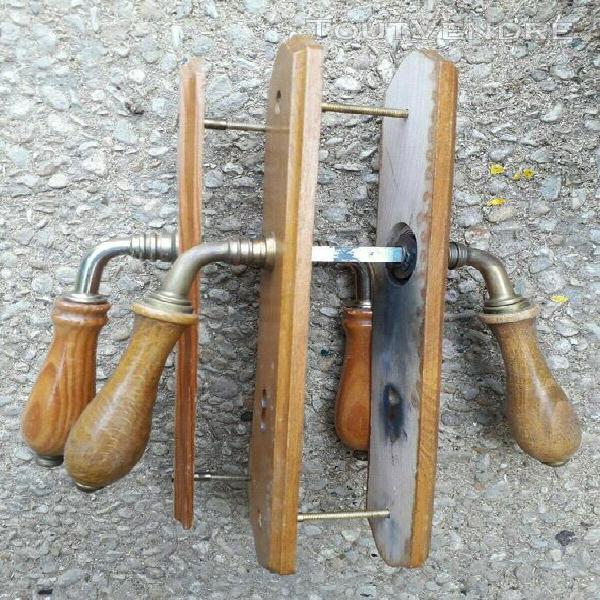 Paires de poignées de porte x 2 en bois *