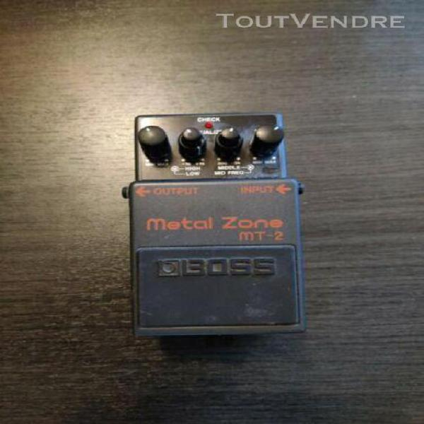 Pédale à effets boss metal zone mt-2 pour guitare