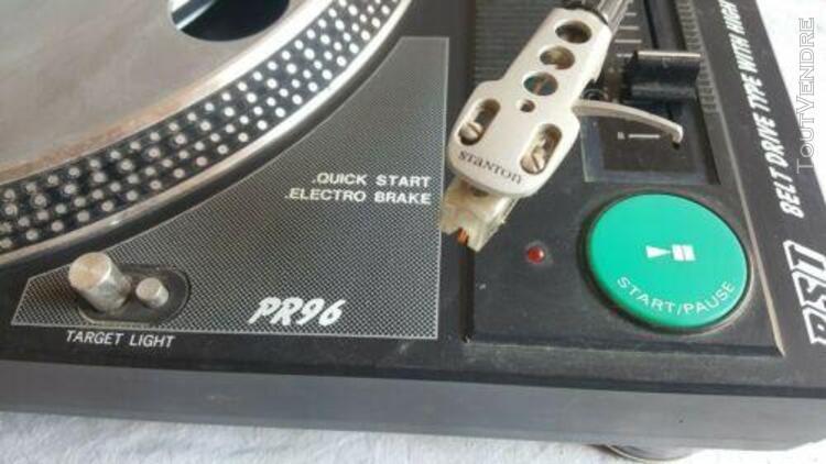 Platine vinyle bst pr96 tourne disque dj pitch vintage voir