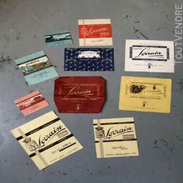 Publicite chocolat lorrain emballage tablette kohler milka p