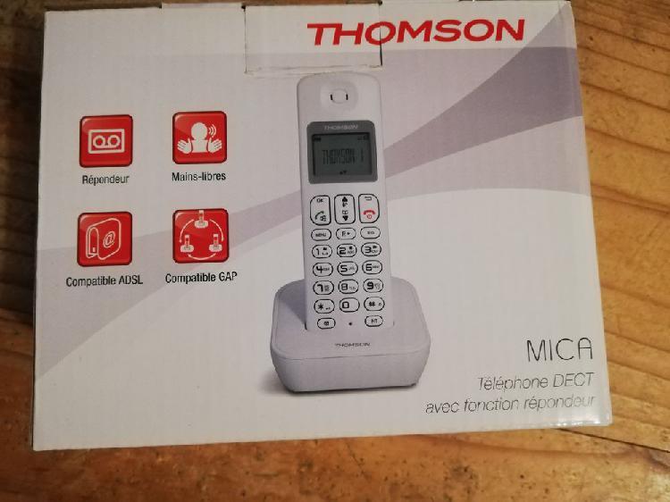 Téléphone fixe thomson mica blanc. neuf, rouen (76000)