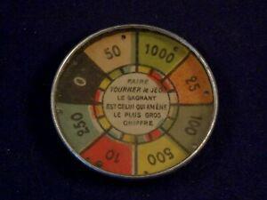 Ancien jouet jeu patience café roue adresse publicitaire