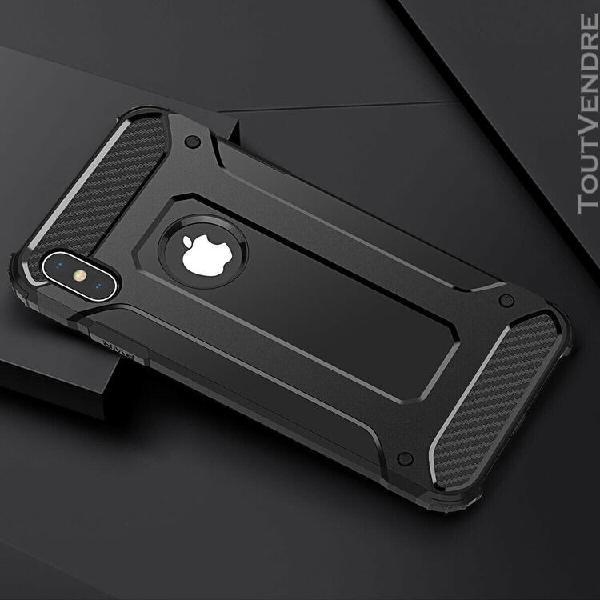 Coque iphone xr plus téléphone noir
