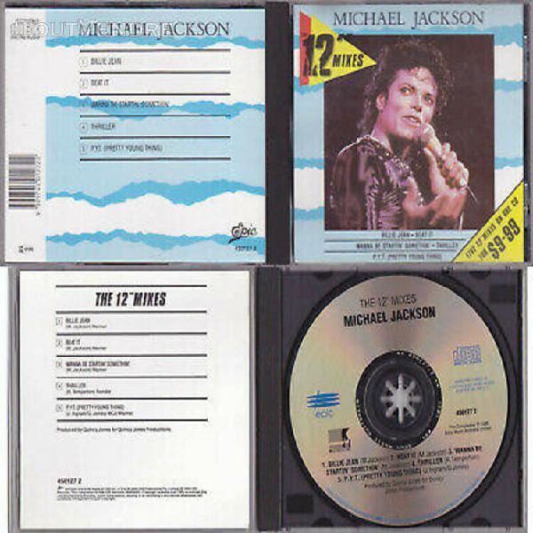 "Michael jackson the 12"" mixes compilation cd australia offic"