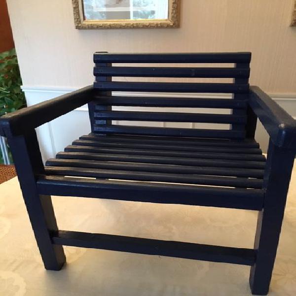 Petit fauteuil enfant vintage en bois occasion, le chesnay