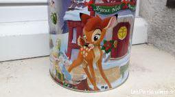 Boite vintage micke minnie bambi, en fer, noël