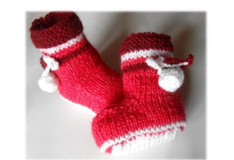 Chaussons bébé modèle fille 1 mois
