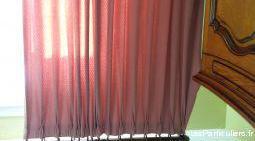 Double rideaux pour chambre