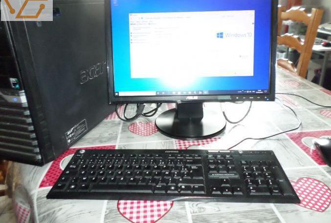 Ordinateur avec ecran clavier sourie