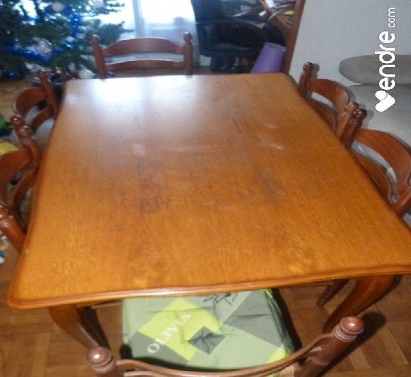 Table en hetre et ses 6 chaises