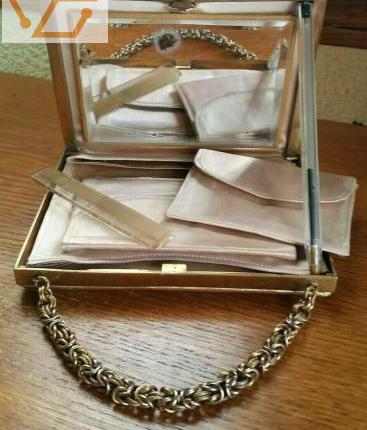 Ancien sac de soirée bourse aumônière thé...