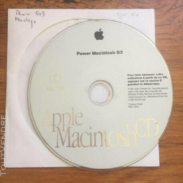 Apple mac os system 8.0 cd d'installation power macintosh g3