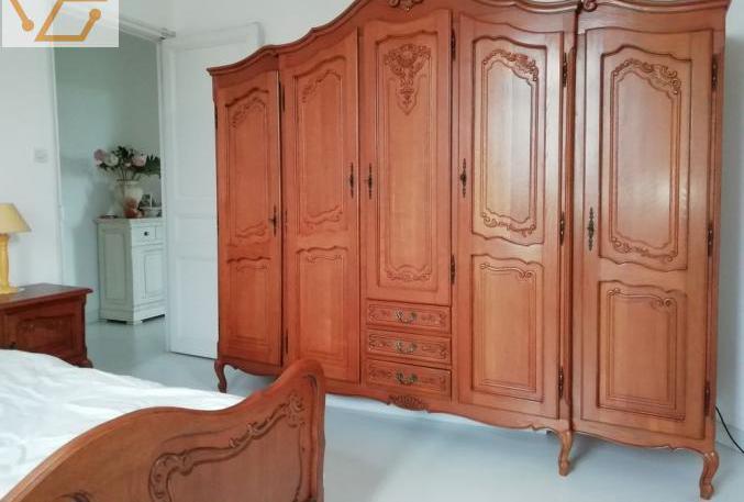 Chambre à coucher louis xv en chêne