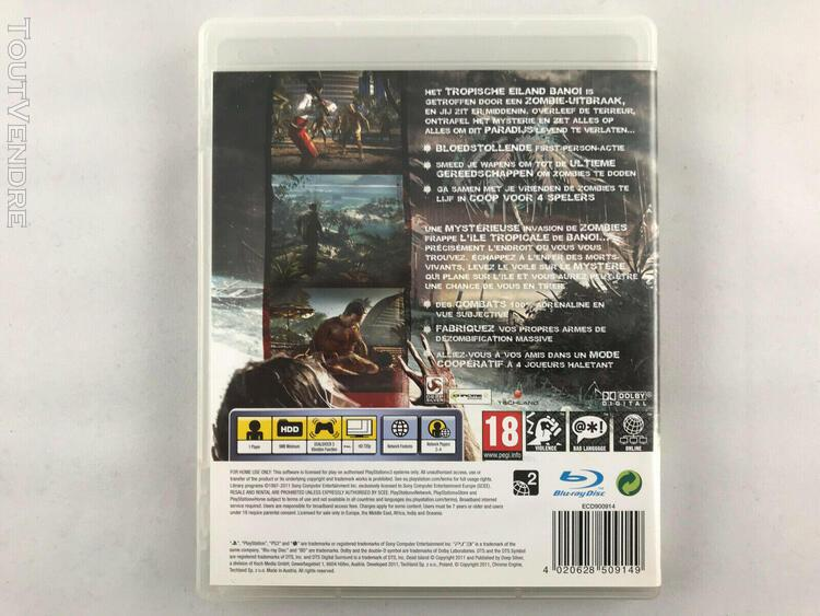 Dead island ps3 - jeu vidéo playstation 3 complet avec le