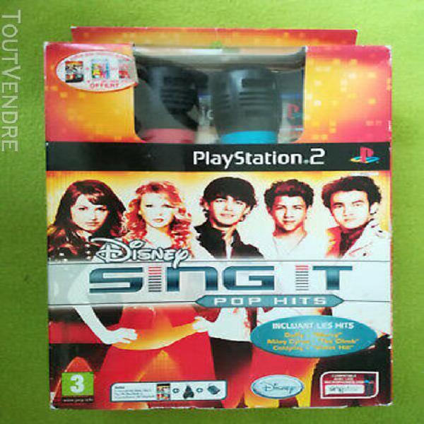 Disney sing it pop hits - jeu neuf - playstation 2 - ps2 - 2