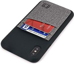 Dockem m2l coque en silicone pour iphone xs max: porte carte