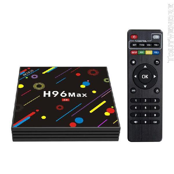 H96 max-h2 smart tv box android 7.1 rk3328 4 go / 32 go uhd
