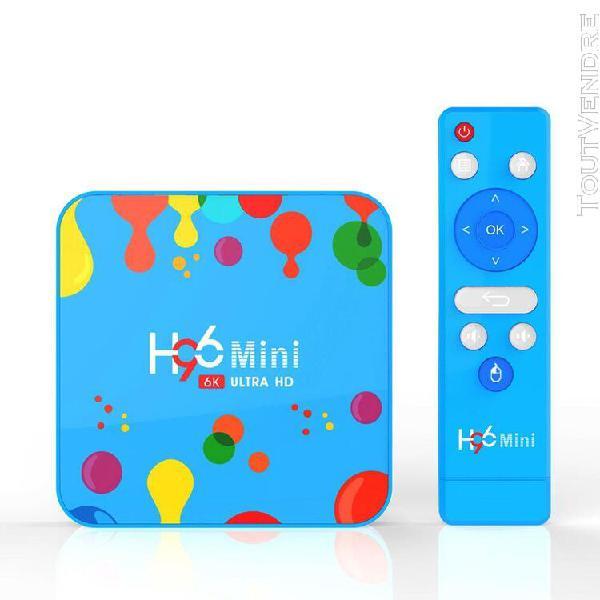 H96 mini android 9.0 smart tv box lecteur multimédia 4k hdr