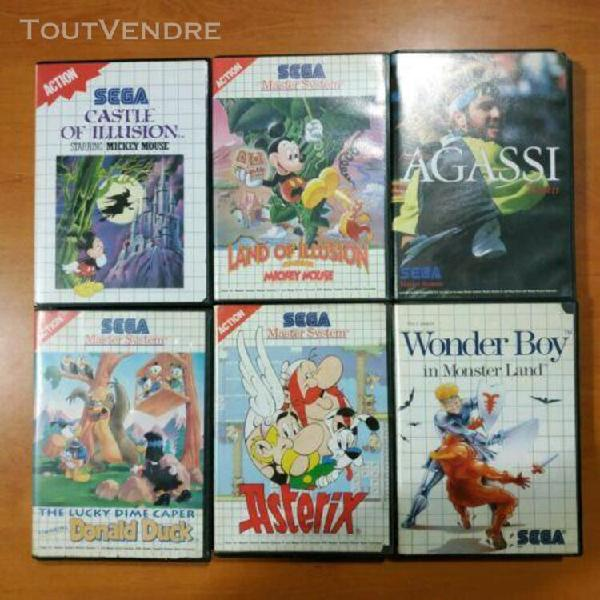 Lot 6 jeux / sega master system / disney mickey donald aster