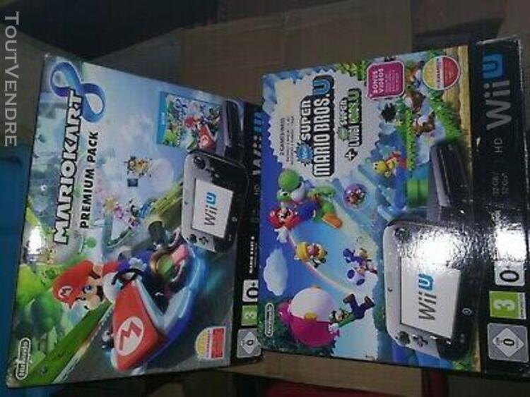 Lot boites vides nintendo wii u mario lego jeux console