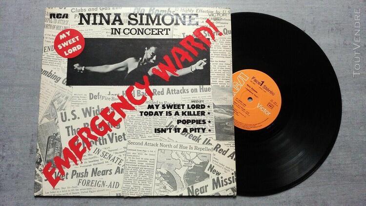 Lp 33t nina simone - in concert original french press 1972