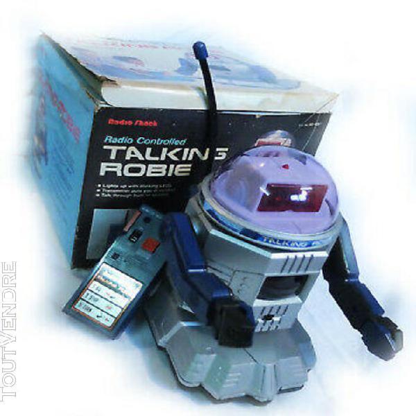 Robot robie années 80 télécommandé, parle avec votre