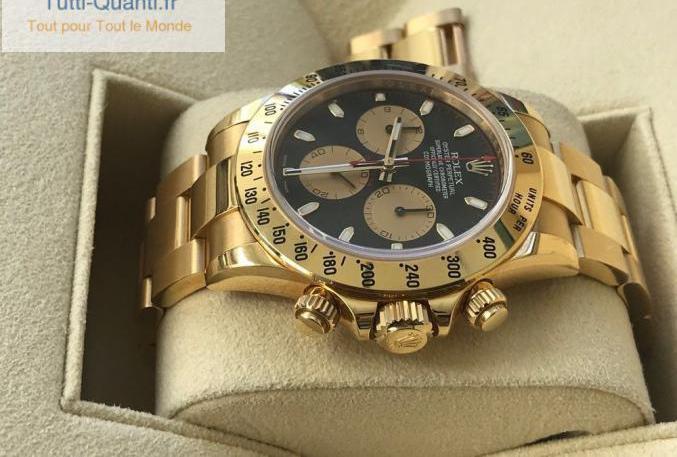 Rolex daytona gold black paul new man dial