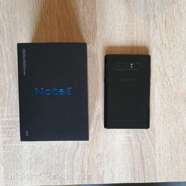 Samsung galaxy note 8 avec accessoires