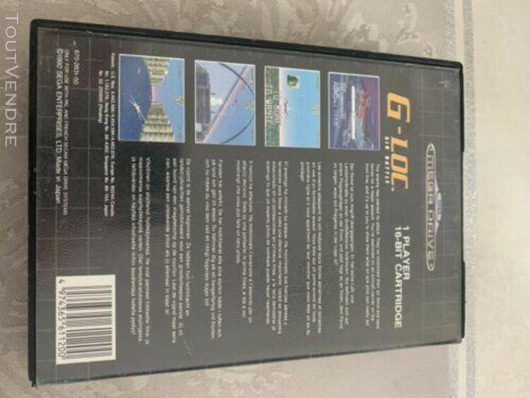 Sega mega drive game - g-loc air battle - pal megadrive