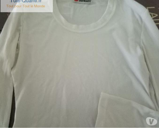 T shirt en nylon blanc