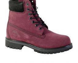 Timberland 6 prem - boots en cuir - red p44 neuve