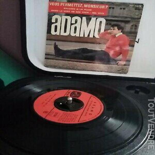 Vynils 45 tours adamo 4 titres collection vintage