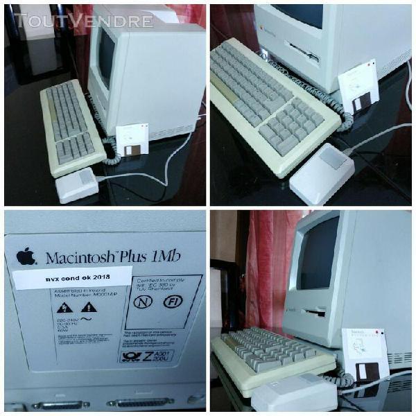 Apple macintosh plus 1mb 1986 avec signatures