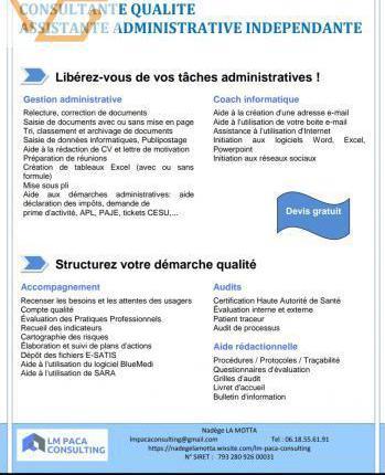 Assistante administrative indépendante