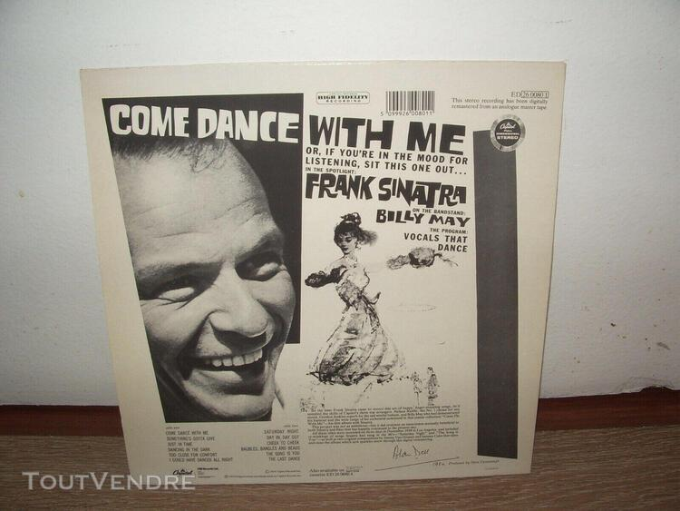 Frank sinatra - come dance with me! capitol records - ed2600