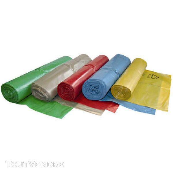 Hygostar sac poubelle, 120 litres, en ldpe, bleu