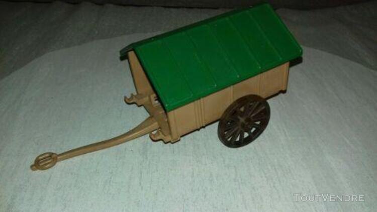 Playmobil carriole charette moyen âge bergère médiéval